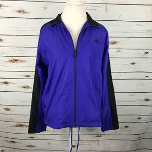 Adidas Jacket Purple Windbreaker Full Zip Rain
